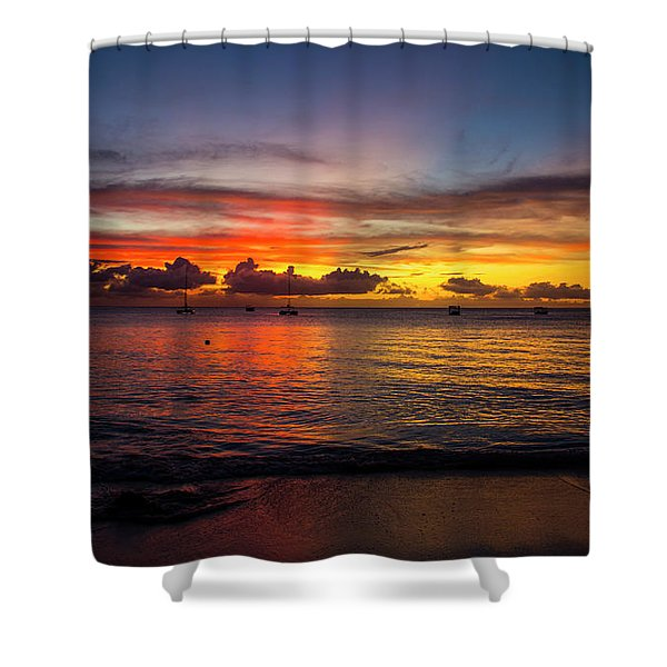 Sunset 4 No Filter Shower Curtain