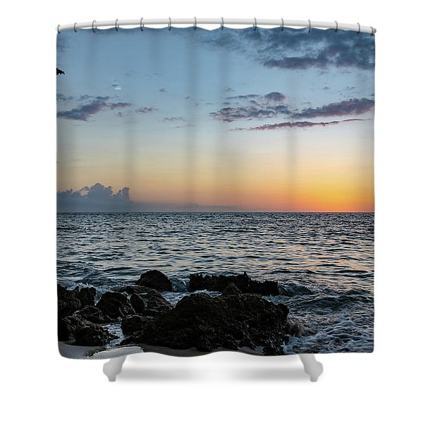 Sunset Afterglow In Negril Jamaica Shower Curtain