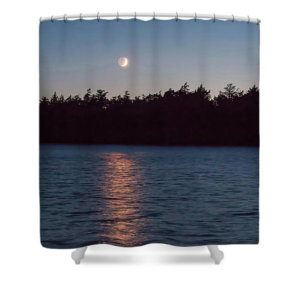 Sunset And Moonrise Shower Curtain