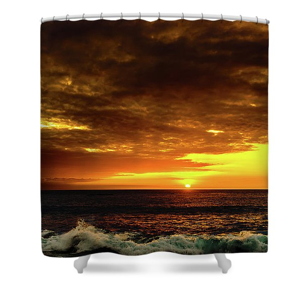 Sunset And Surf Shower Curtain
