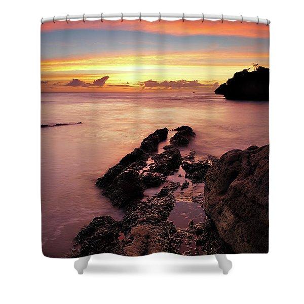 Sunset At Columbus Bay Shower Curtain