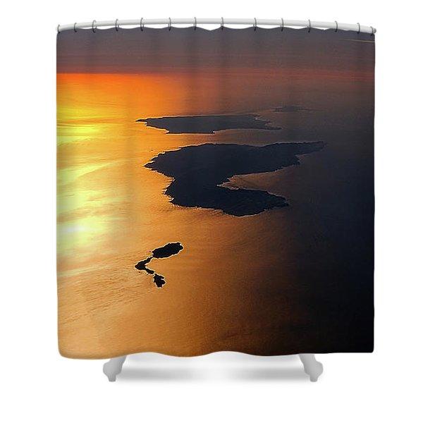Sunset At Lyon Rock Shower Curtain