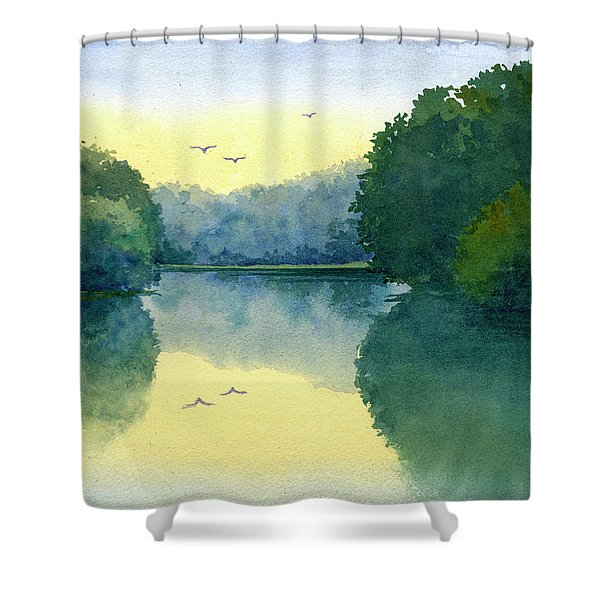 Sunset At Memorial Park Shower Curtain
