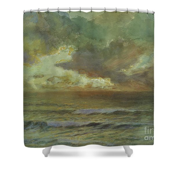 Sunset At Seascale Shower Curtain
