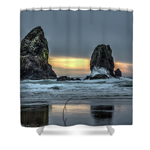 Sunset At The Canon Beach Shower Curtain