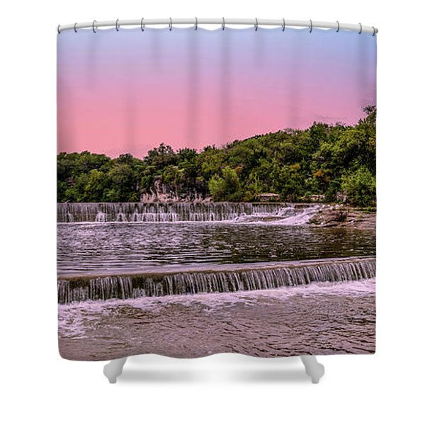 Sunset At The Falls Shower Curtain