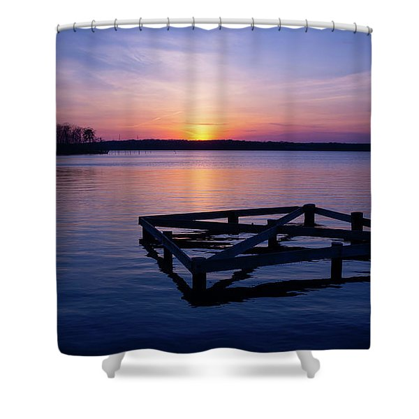 Sunset At The Reservoir  Shower Curtain
