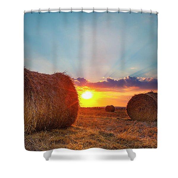 Sunset Bales Shower Curtain