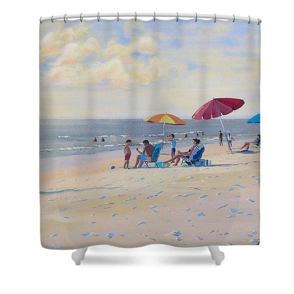 Sunset Beach Observers Shower Curtain