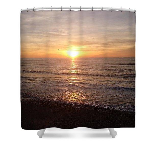 Sunset Blackpool Shower Curtain