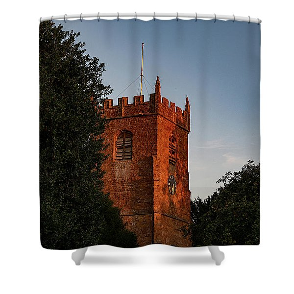 Sunset Church Shower Curtain
