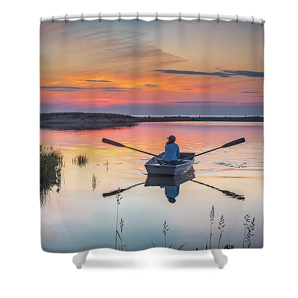 Sunset  Crossing Shower Curtain
