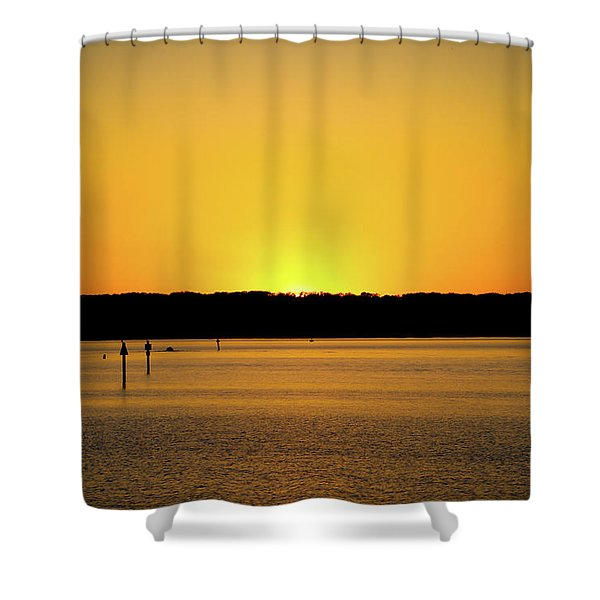 Sunset From National Harbor Shower Curtain