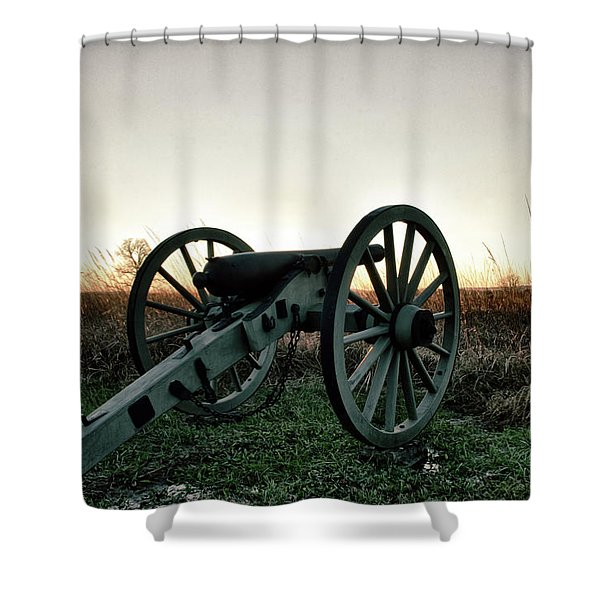 Sunset In Defense Shower Curtain