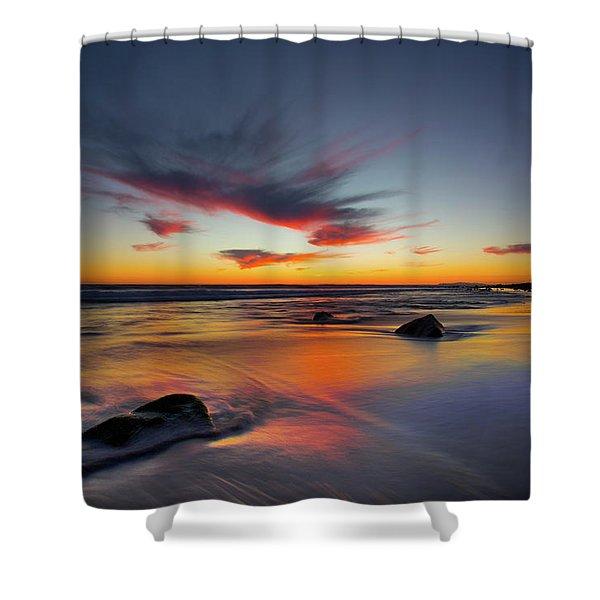 Sunset In Malibu Shower Curtain