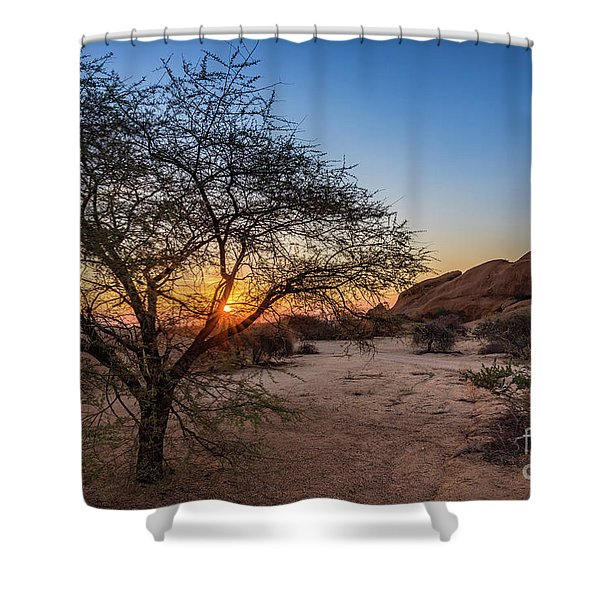 Sunset In Spitzkoppe, Namibia Shower Curtain