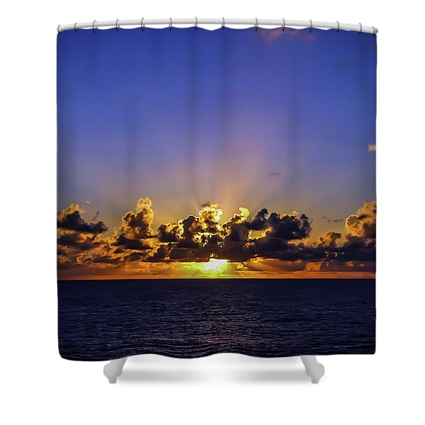 Shower Curtain featuring the photograph Sunset In The Bahamas by Dawn Richards