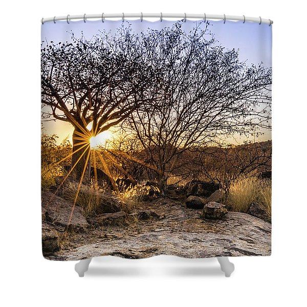 Sunset In The Erongo Bush Shower Curtain