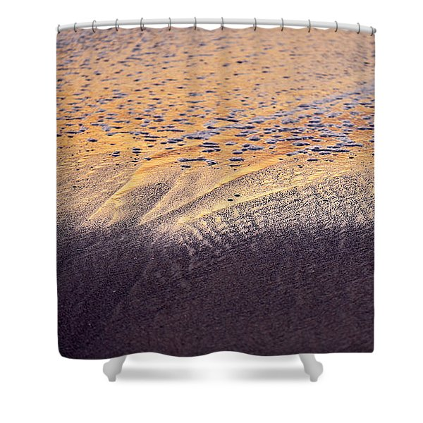 Shower Curtain featuring the photograph Sunset In The Sand by Whitney Goodey