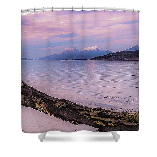 Sunset In Ushuaia Shower Curtain