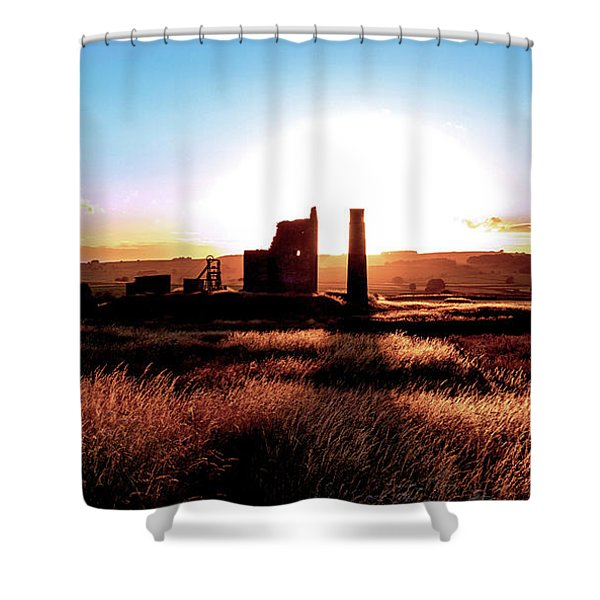 Sunset. Magpie Mine. Shower Curtain