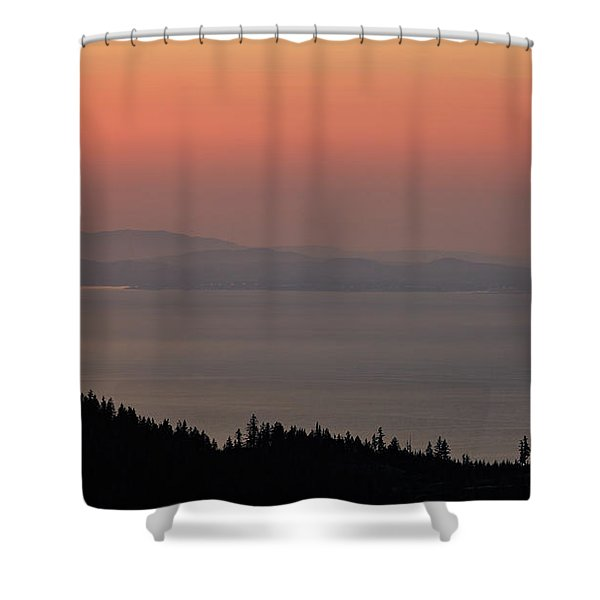 Sunset Of The Olympic Mountains Shower Curtain