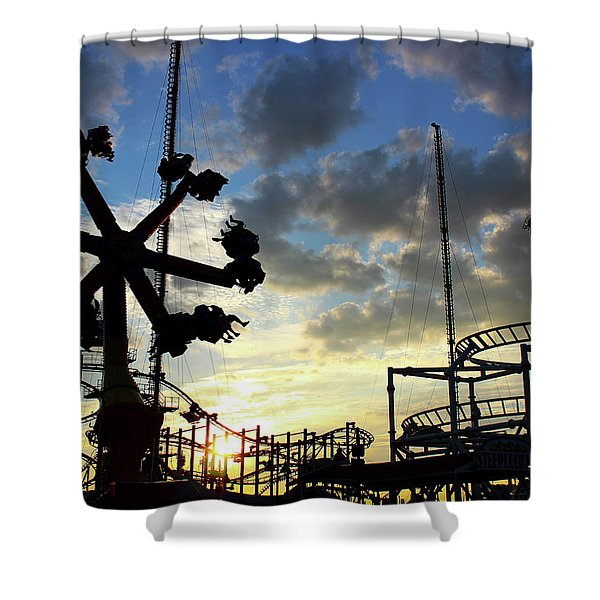 Sunset On Coney Island Shower Curtain