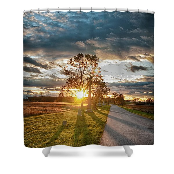 Sunset On The Field Shower Curtain