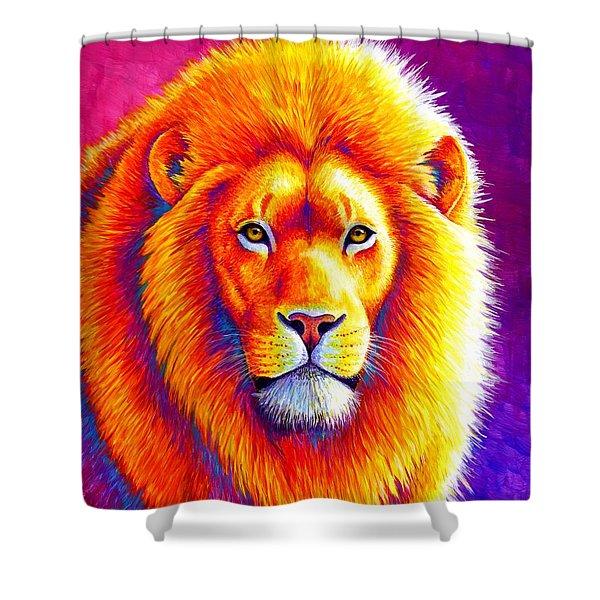 Sunset On The Savanna - African Lion Shower Curtain