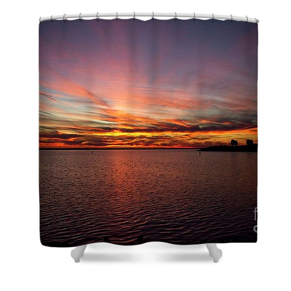 Sunset Over Canada Shower Curtain
