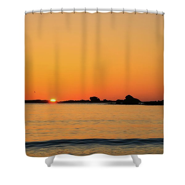 Shower Curtain featuring the photograph Sunset Over Sunset Bay, Oregon 4 by Dawn Richards