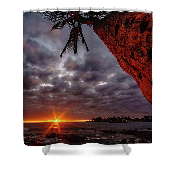 Sunset Palm Shower Curtain