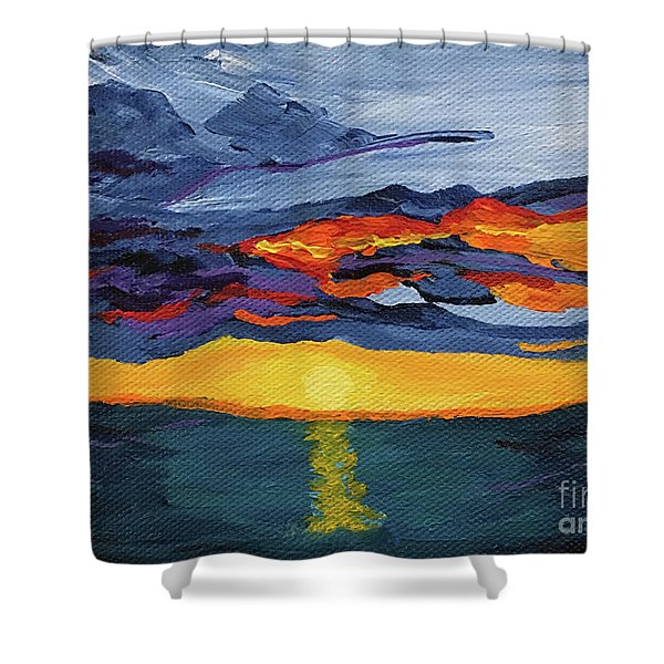Sunset Streak Shower Curtain