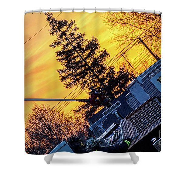 Sunset Streams Shower Curtain