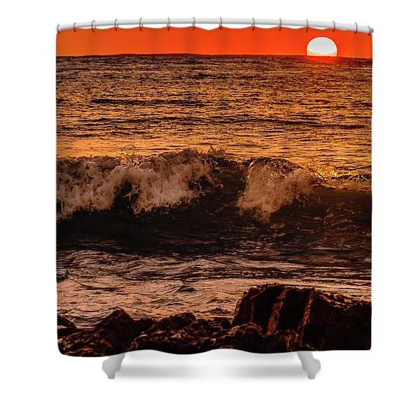 Sunset Wave Shower Curtain
