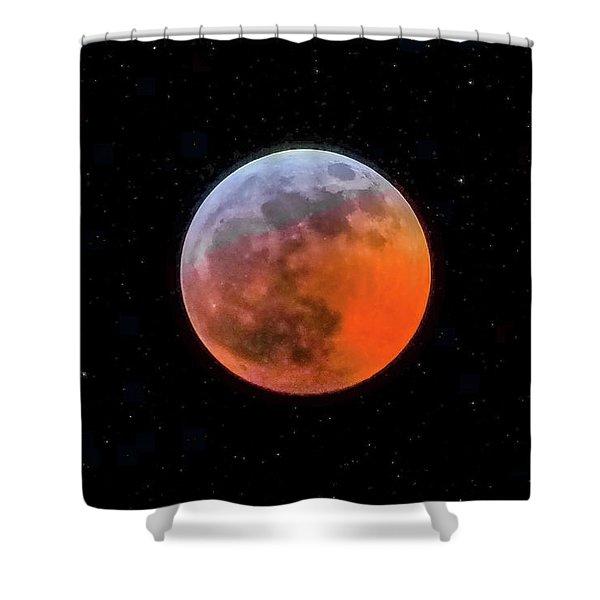 Super Blood Moon Eclipse 2019 Shower Curtain
