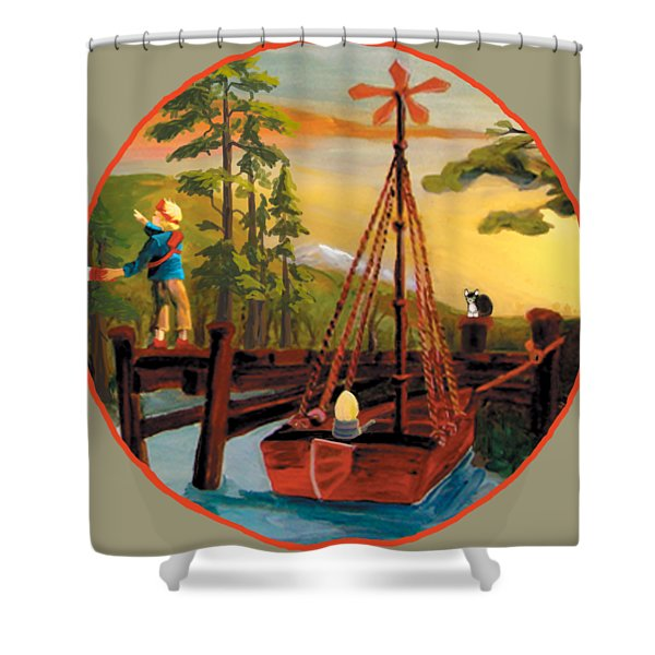 Super Boat Overlay Shower Curtain