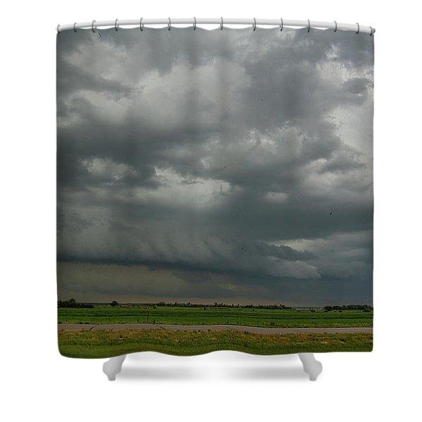 Supercells In Nebraska 049 Shower Curtain