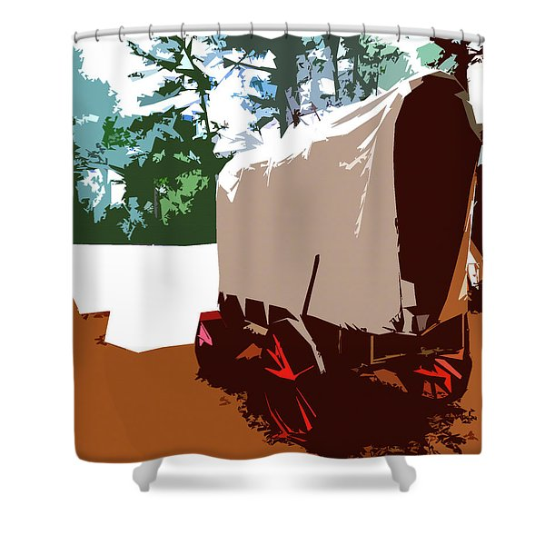 Supply Wagon Shower Curtain