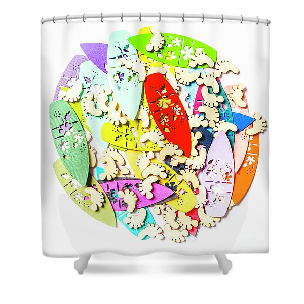 Surf Globe Trotters  Shower Curtain
