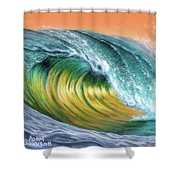 Surf Into The Sunset Shower Curtain