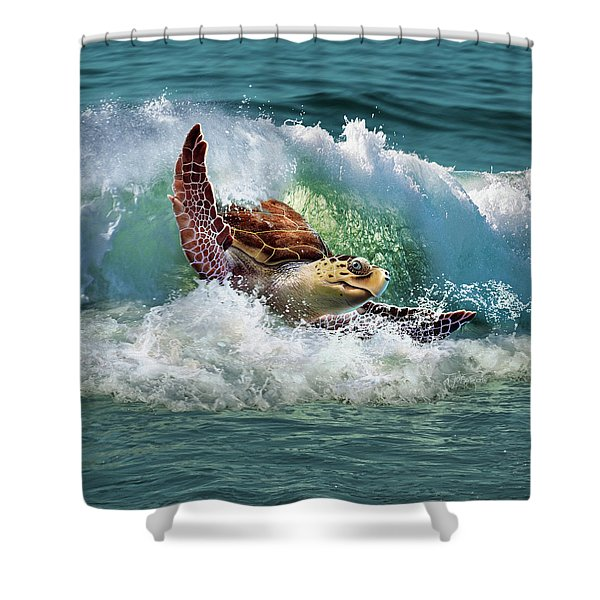 Surf To The Turf Shower Curtain