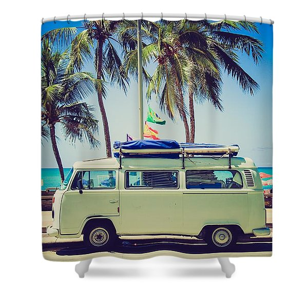 Surfer Van Shower Curtain