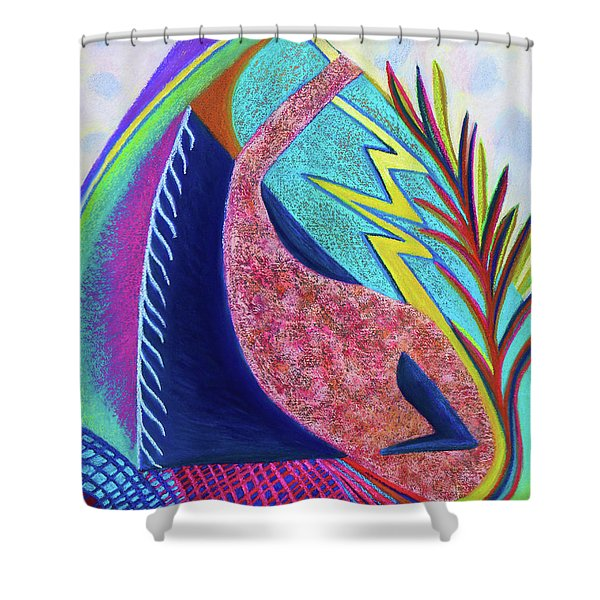 Surmounting  Shower Curtain