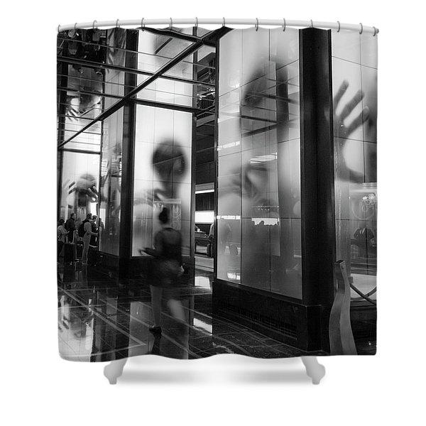 Surveillance Shower Curtain