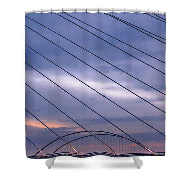 Suspense Shower Curtain