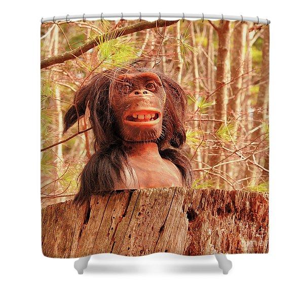 Swamp Creature Shower Curtain
