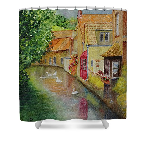 Swan Canal Shower Curtain