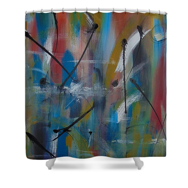 Swimming Thoughts Shower Curtain