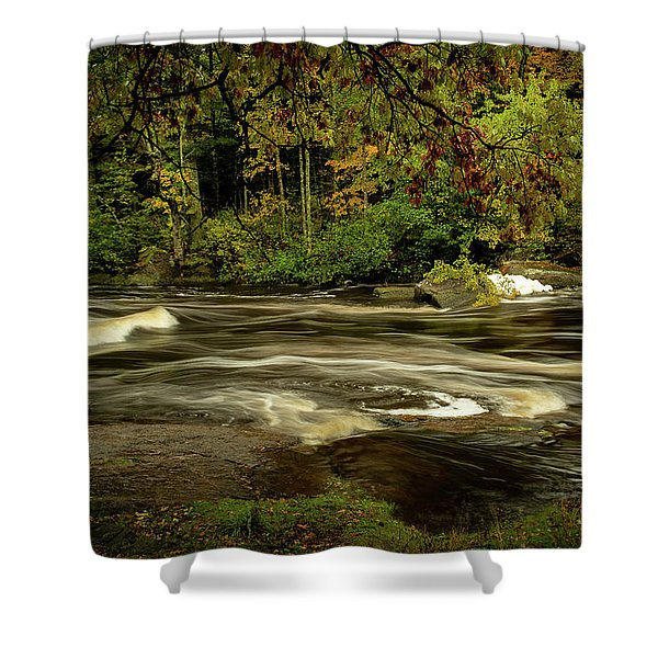 Swirling River Shower Curtain